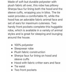 70bcc17d0e Body Candy Intimates   Sleepwear - New Soft Sleeping Owl Bathrobe  last one
